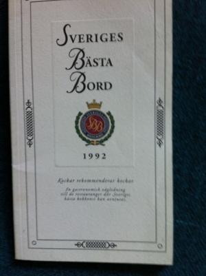 Sveriges bästa bord 1992